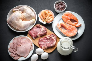 Protein diet: raw products